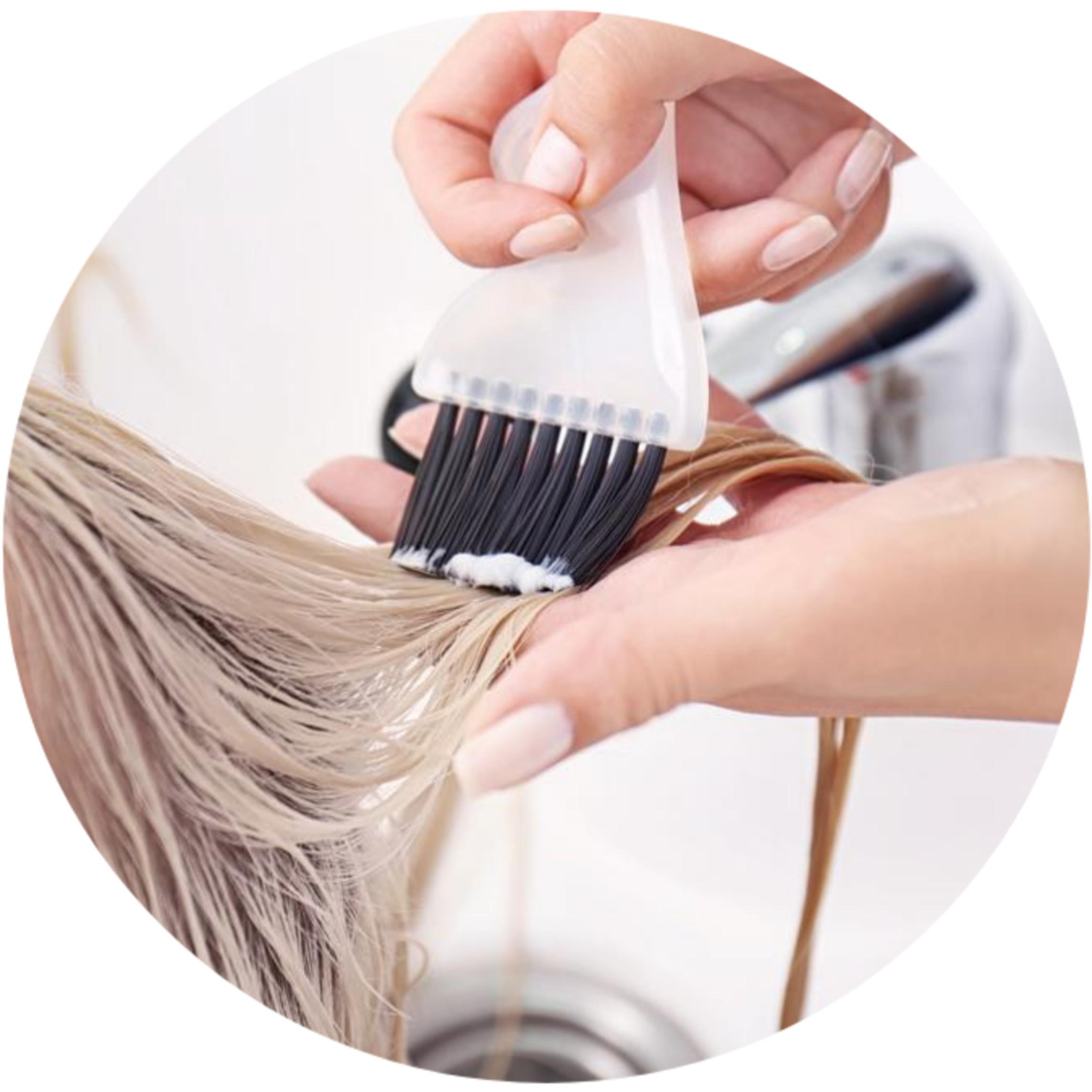 Колорирование волос краской INDOLA
