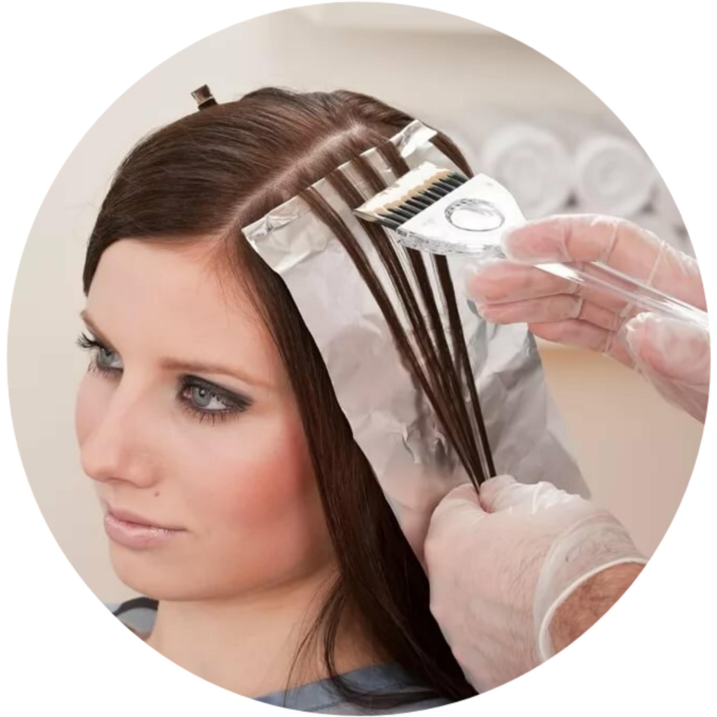 Окрашивание корней волос краской INDOLA